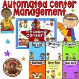 Superhero Themed Daily Automated Centers and Guided Reading Rotation Powerpoint