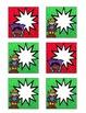Superhero-Themed December Calendar Cards