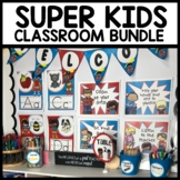 Superhero CLASSROOM DECOR PRINTABLES BUNDLE