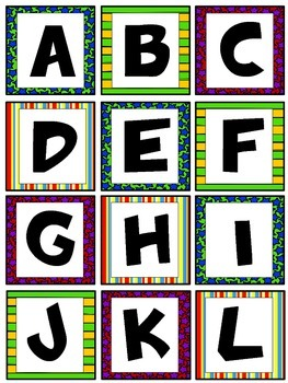 Superhero Themed Decor: Center Labels Word Wall Tags Labels Letters