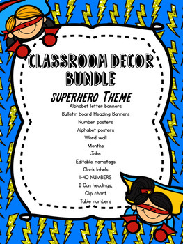 Superhero Themed Decor Pack