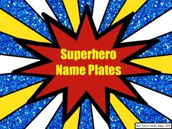 Superhero-Themed Desktop Name Plates