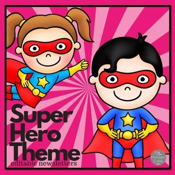 Superhero Themed Editable Newsletter Templates