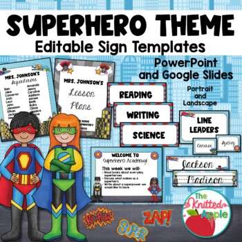 Superhero Themed Sign Templates {Editable}