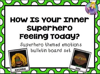 Superhero Themed Emotions Bulletin Board Set