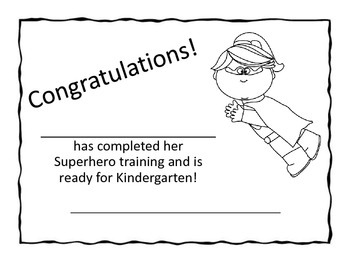 Superhero Themed End of Year Promotion Certificates