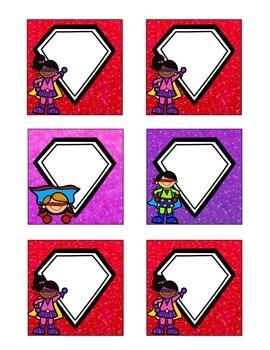 Superhero-Themed February Calendar Cards