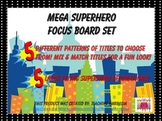 Superhero Themed Focus Board or CBC  Board Titles
