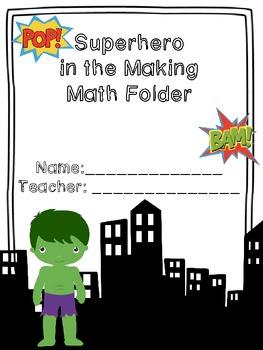 Superhero Themed Folder Templates