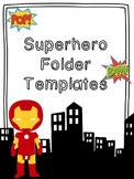 Superhero Themed Folder Templates