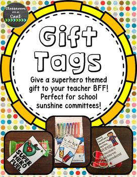 Superhero Themed Gift Tags **FREEBIE**