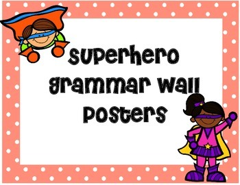 Superhero Themed Grammar Wall Posters