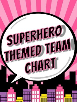 Superhero Themed Group Chart
