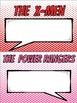 Superhero Themed Group Chart