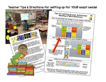 Superhero Themed Guided Reading Center Rotations with 6 Centers - Powerpoint