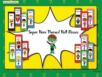 Superhero Themed Hall Passes