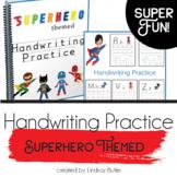 Superhero Themed Handwriting Practice Sheets