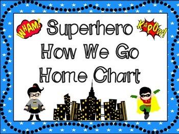 Superhero Themed How We Go Home Chart