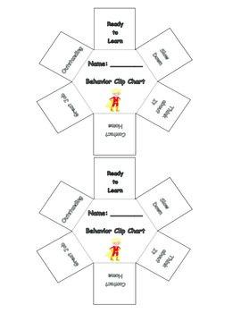 Superhero Themed Individual Behavior Clip Charts