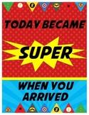Superhero Themed Inspirational Poster