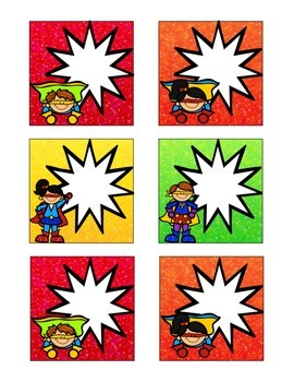 Superhero-Themed June Calendar Cards