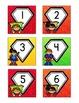 Superhero-Themed June Calendar Cards