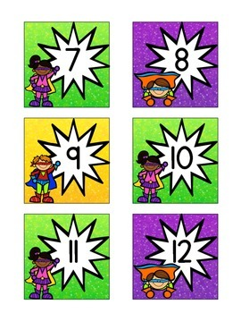 Superhero-Themed March Calendar Cards