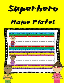 Superhero Themed Name Plates