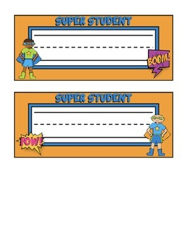 Superhero Themed Nameplates