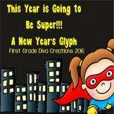 New Years 2019 Activities  | Superhero Math | Glyph | Graphing