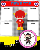 Superhero Themed News Chart (Editable)