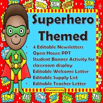 Superhero Themed Back To School Teacher Resources & 3 Student Activities