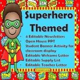 Superhero Themed Back To School Teacher Resources & 3 Stud
