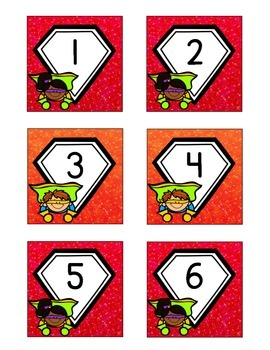 Superhero-Themed November Calendar Cards