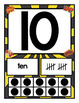 Superhero Themed Number Card Posters from 1-20