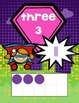 Superhero-Themed Number Display 0-20