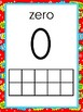 Superhero Themed Number Posters 0-20 with 10 frame