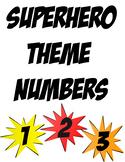 Superhero Themed Numbers Freebie