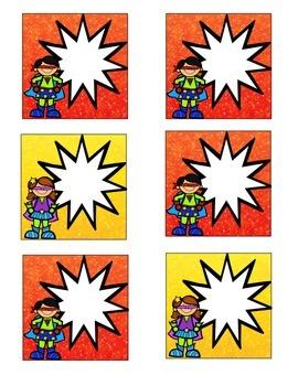 Superhero-Themed October Calendar Cards