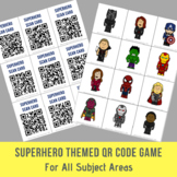 Superhero Themed Open Ended QR Code Game - For All Subject Areas