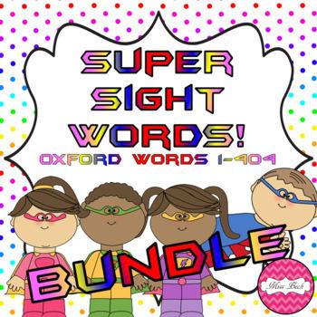 Superhero Themed Oxford Sight Word Game BUNDLE (Words 1-404)