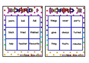 Superhero Themed Oxford Sight Word Game (Words 201-240)