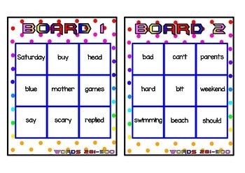Superhero Themed Oxford Sight Word Game (Words 281-320)