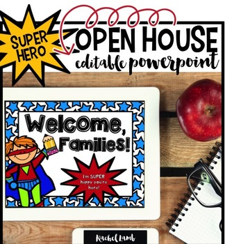 Superhero Themed Parent Night Open House Powerpoint!