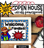 Superhero Themed Parent Night Open House Back to School Powerpoint