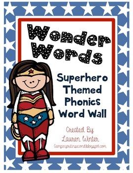 Superhero Themed Phonics Word Wall
