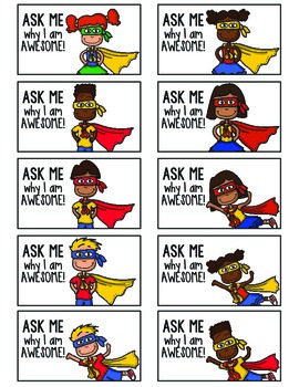 Superhero Themed Positive Reinforcement Cards