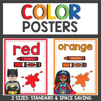 Superhero Themed Color Posters