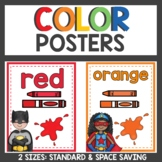 Color Posters Superhero Themed