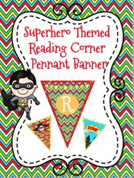 Superhero Themed Read-Reading Corner Pennant Banner